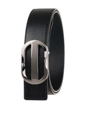 Men Reversible Full Grain Leather Belt PJ11A005 Black / Style 1
