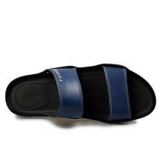 Men Sandals Fashion Beach Shoes Platform Men's Slippers Soft Geniune Leather Breathable Skid Resistance Leisure Sandal Sandalias (Intl)