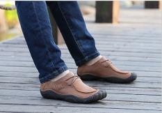 Men Shoes 2016Medium (B, M) Breathable Handmake The New Manual Craft Men's Genuine Business Casual Soft Bottom Freeshipping