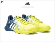 Men Sport Shoes Good Quality Tennis Shoes Yellow Dark Blue White - intl