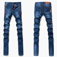 Men Stretchy Straight Jeans Pants (Intl)