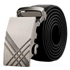 Men Stylish Leather Automatic Buckle Belts Luxury Waist Strap Belt Waistband HOT B