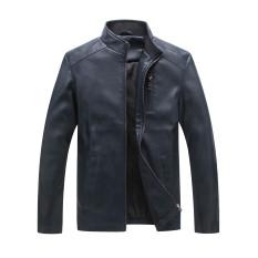 Men's 03Baseball Leather Coat Collar Korean Leather Thin Male Jacket