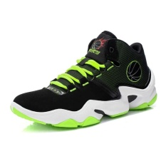 Men's anti-skid shockproof fashion light breathable wearable basketball shoes - intl