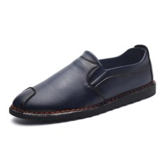 "Men""s Casual Cool And Comfortable Soft-soled Leather Shoes (Blue) ' - Intl"