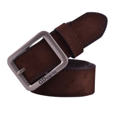 Mens Casual Waistband Leather Automatic Buckle Belt Waist Strap Beltss Coffee