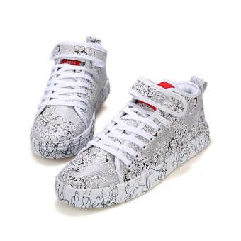 Men's Fashion Sneakers With High Cut (White)
