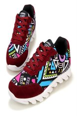 Men's Fashionable Colorful Graffiti Casual Sports (Red) (Intl)