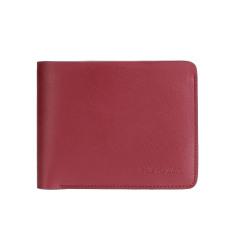 Mens Genuine Leather RFID Blocking Wallets Mens Biford Wallets Red