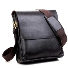Men's HandBag Polo PU Leather Messenger Shoulder Handbag Man Casual Fashion Bag