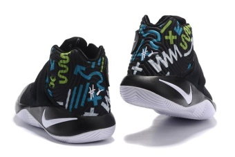 Men's Kyrie Irving Basketball Shoes Kyrie 2 Basketball ShoeBlack/White/Print - intl