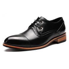 Men's Leather Shoes Fashion Designed Of Brogue Style Leisure Shoes Comfortable And High Quality Leather Shoes - Intl