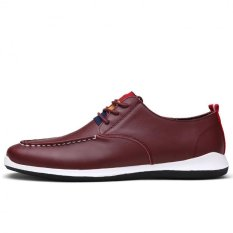 """Men""""s Lightweight And Comfortable Leather Casual Shoes (Brown) '"""