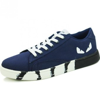 "Men""s Little Monster Shoes Canvas Shoes Sneakers (Blue) '"