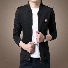 Men's New Leisure Slim Thin Section Jacket (Black) - Intl