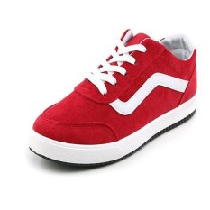 Men's Non-Slip Wear-Resisting Breathable Casual Canvas Shoes (Red) (Intl)