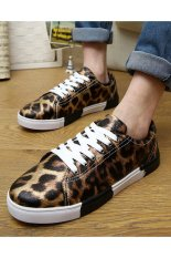 Men's Shoes Fashion Sneakers with Low Cut (Brown) (Intl)