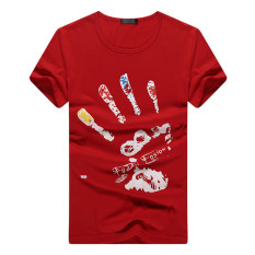 Men's Short-sleeve Cotton Fashion Classics T-shirt Casual T-shirt (Intl)