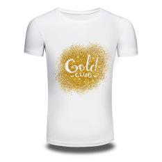 Mens Short Sleeved 3D Cotton Men T-shirt Printing White
