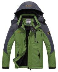 Men's Waterproof Ski Jackets Fleece Windproof Sportswear Green XXXL (Intl)