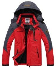 Men's Waterproof Ski Jackets Fleece Windproof Sportswear Red XXXL (Intl)