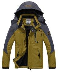 Men's Waterproof Ski Jackets Fleece Windproof Sportswear Yellow XXXL (Intl)
