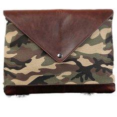 Messager Bag Business Men Retro Envelope Clutch Shoulder Bag Diagonal Document Bag Crazy Horse Leather - Intl - Intl
