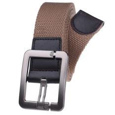 Military Style Unisex Single Grommet Adjustable Canvas Belt Web Belt Woven Belt Dark Khaki 115cm - Intl