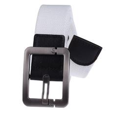 Military Style Unisex Single Grommet Adjustable Canvas Belt Web Belt Woven Belt White 115cm - Intl