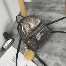 Mini kecil tas ransel tas wanita (Emas dalam)