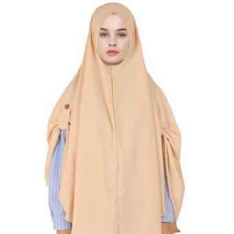 Montaza Hijab Jilbab Instan Syar i Cream Kerudung Geblus Syari JNE 15 .