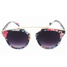 Moonar Fashion Vintage perlindungan sinar UV warna film reflektif kacamata hitam (#5)