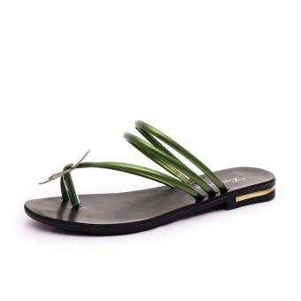 Ms. Fashion Flat Shoes Sandals-Green - Intl