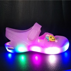 MSHOES Girl's LED Sandals Children luminescent Slippers (Pink) - intl