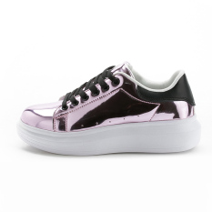 MT Thick Crust Fashion Models Korean Version Of The Moving Mirror, Leisure College Wind Running Shoes (Pink)
