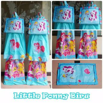 Mukena Anak Little Pony Blue Size XS