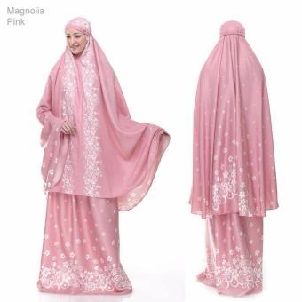 Mukena Katun Satin Magnolia Pink