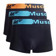 Muscle Fit MFBX-1105 Celana Dalam Pria Mini Boxer - 3pcs - Multiwarna