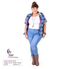 My Size Baju Ukuran Besar Big Size Bolero Batik 0315 BLUBN216