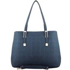 Nana Blanche Bella Tas Kerja Premium / Tas Sandang 2 Ruang dan Tas Selempang Wanita - 129 Biru Tua