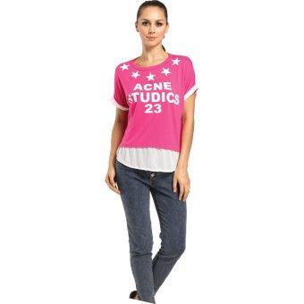 Nataria Brand Blouse Wanita LA 57071 - Pink