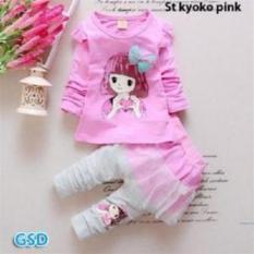 NCR-Setelan Baju Anak Cewe St Kyoko Pink