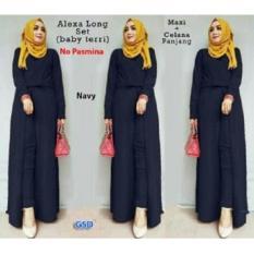 NCR-Setelan Baju Muslim Wanita Terbaru-Set Alexa Navy