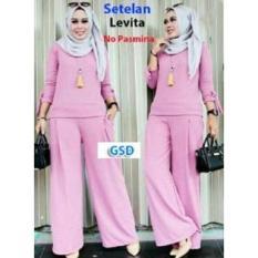 NCR-Setelan Baju Muslim Wanita Terbaru-St Cenita Pink