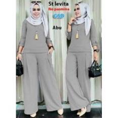 NCR-Setelan Baju Muslim Wanita Terbaru-St Levita Abu