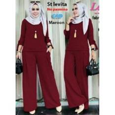 NCR-Setelan Baju Muslim Wanita Terbaru-St Levita Maroon