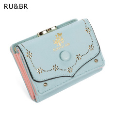 New Arrival Fashion Short Women Wallets Candy Colors Embossed Ladies Clutch Coin Purse Hasp Lovely Card Holder Billfold Handbag
