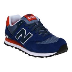 New Balance 574 Core Plus Men's Sneakers - Navy-Orange