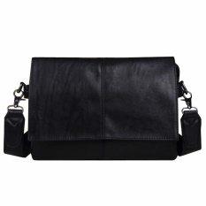 New Casual Black Leather Man Bag Luxury Brand Envelope Bag Mens Messenger Bag Leisure Men's Crossbody Bag