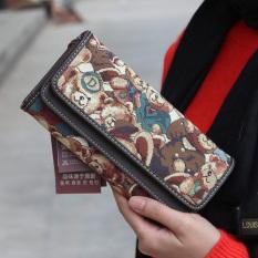 New Cute Cartoon Women PU Leather Wallets Fashion Design BusinessCard Purse Wallet Long Hasp Phone Package ID Holder Money Bag - Intl